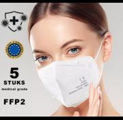 Mondkapjes.nl 5 stuks FFP2 Medisch made in EU