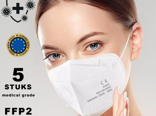 Mondkapjes.nl 5 pieces FFP2 Medical made in EU
