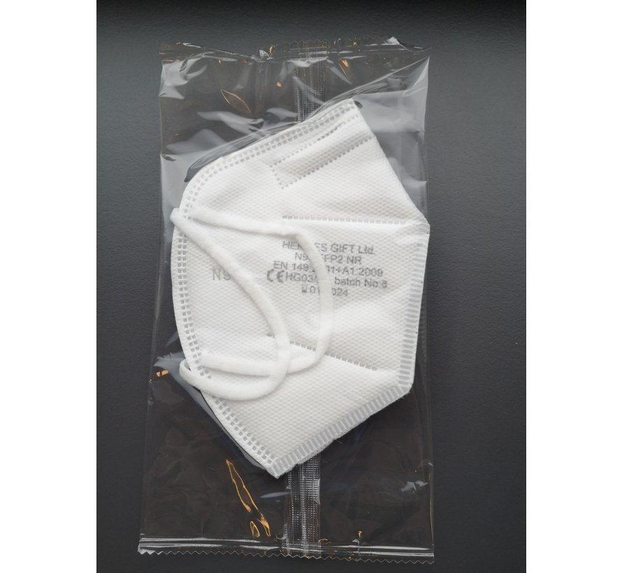 FFP2 Medische mondkapjes Wit | HG | 5 pack