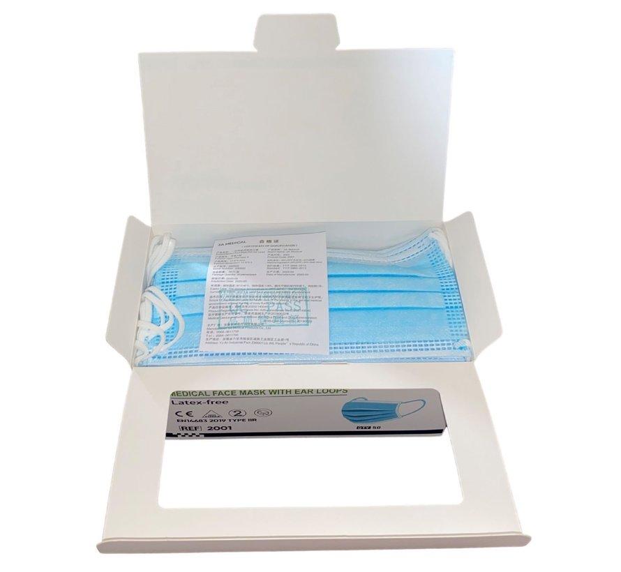 Medische Chirurgische Mondmaskers IIR Blauw | 3A Medical | 50-Pack