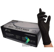 Nitras 100 pieces Nitras Black wave Examination Gloves Nitrile | Large