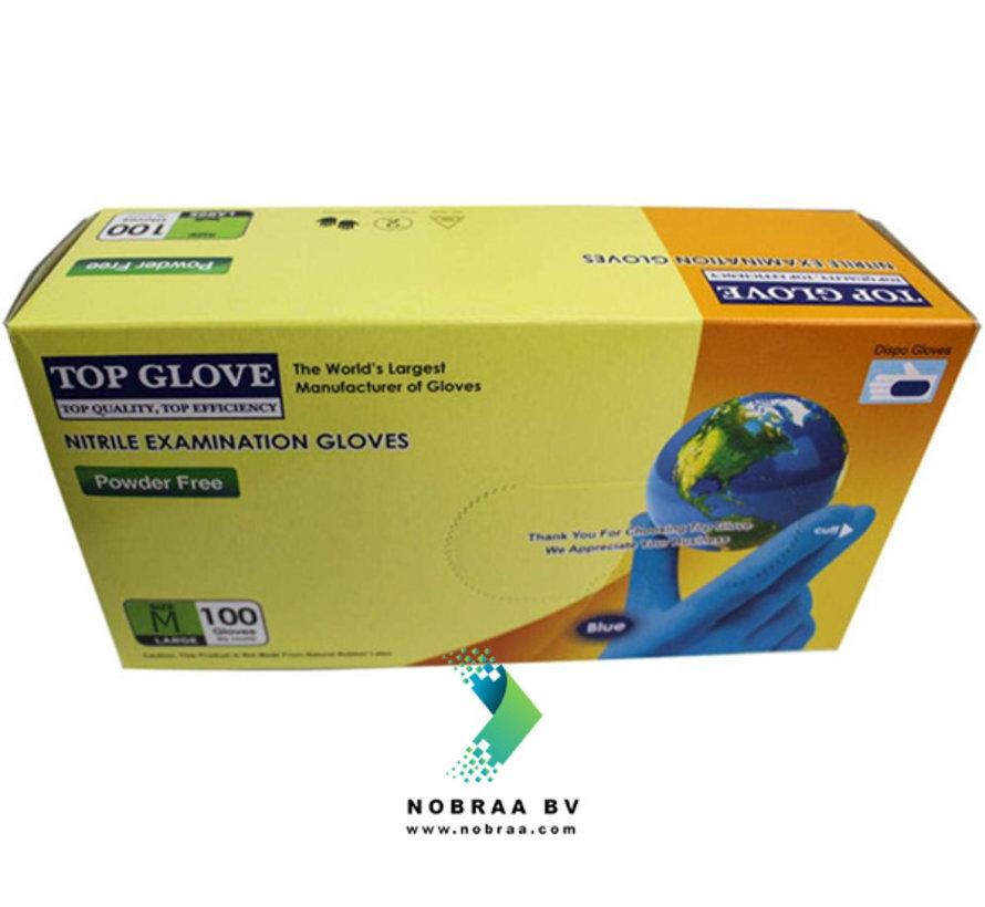 100 pieces Top Glove Medical Examination Gloves Nitrile | Medium