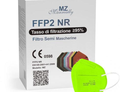 Mondkapjes.nl 20x MZ FFP2 NR Medical facemasks Apple Green