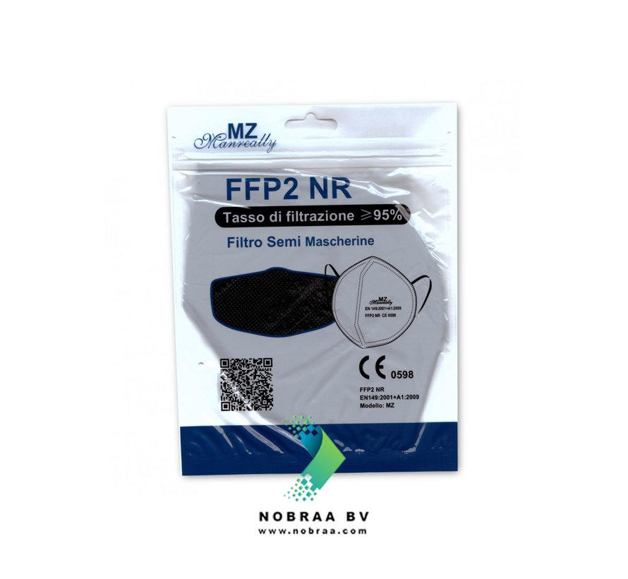 20 stuks MZ FFP2 NR Medische Mondkapjes Donker Paars EN 149:2001 +A1:2009 gecertificeerd