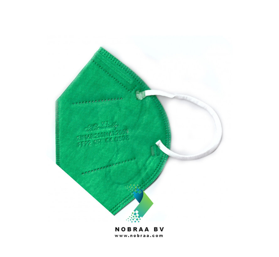 20 pack MZ  FFP2 NR medical face masks Moss Green  EN 149:2001 +A1:2009 certified
