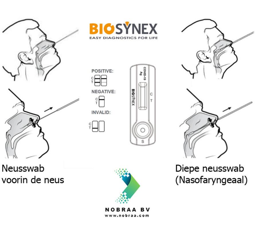 Biosynex Covid-19 Neusswab zelftest Corona antigeen sneltest Kopen