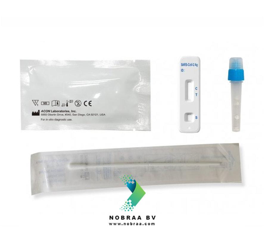 Acon Flow flex Covid-19 Easy Nose Swab test - Antigen rapid self-test