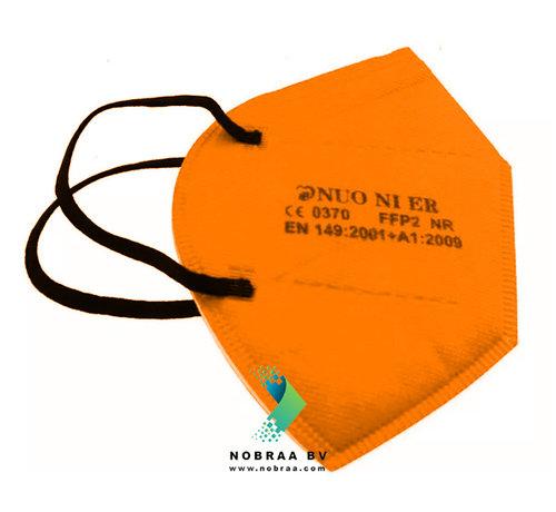 NUO 1R FFP2 NR 5 Laags kwaliteit mondmasker Oranje  | Single pack