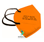 FFP2 NR 5 Layer Top quality comfortable facemask Orange    Single Pack