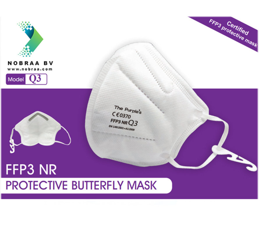 FFP3 NR  Mondkapje | TPM Protective Butterfly Mask  | Wit | 25-Pack