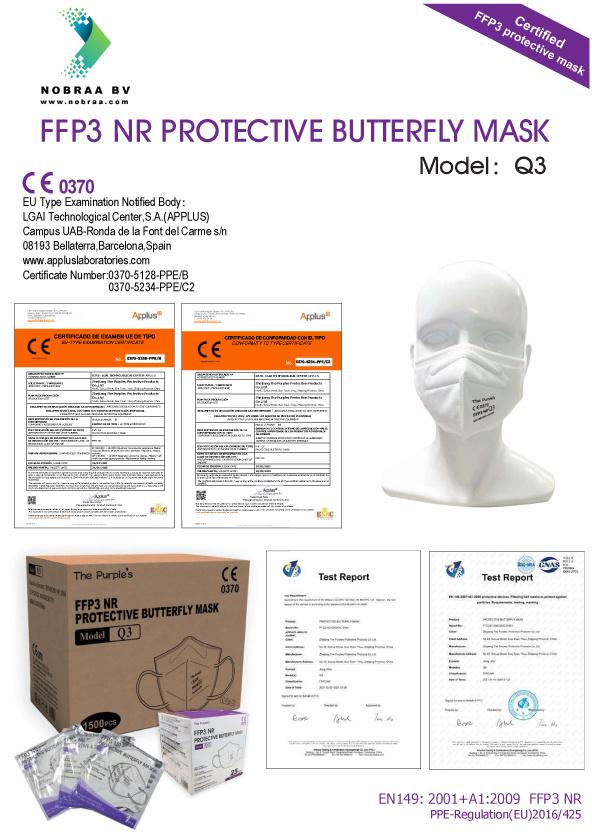 FFP3 Mondkapjes certificaten & CE Normering