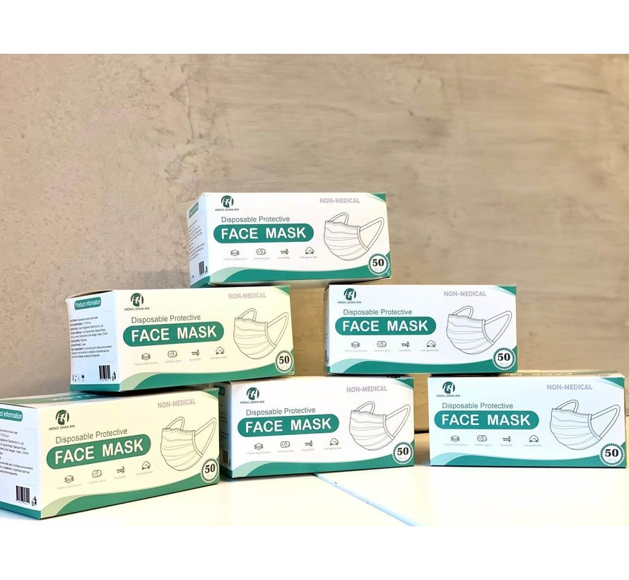 2000 Surgical masks packed in a box per 50 pack