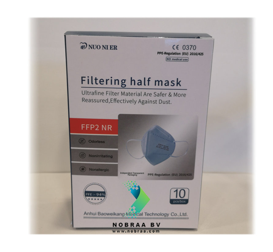 FFP2 NR 5 Laags kwaliteit mondmasker Oranje  | Single pack
