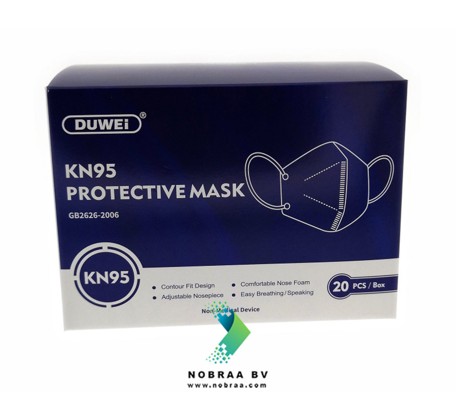 KN95 - FFP2 Personal Protective Mask  White | Duwei | 20-Pack