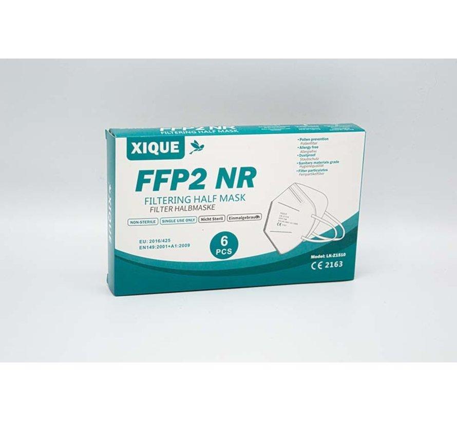 FFP2 Mondkapjes Wit   Xique LK-Z1510   6-Pack