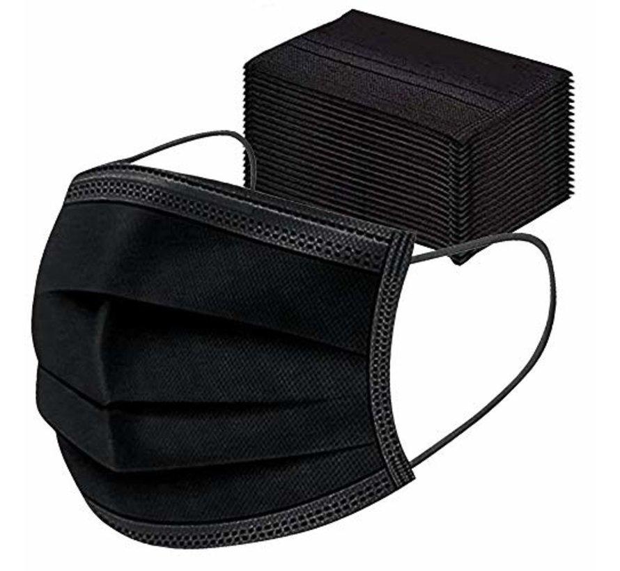 3 Layer Surgical Facemask Black | AP