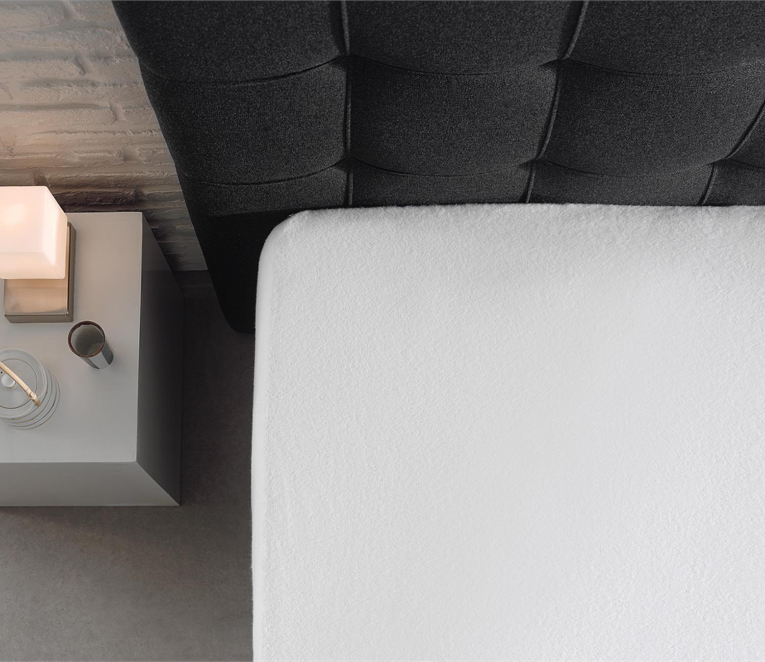 Molton matras hoeslaken - white