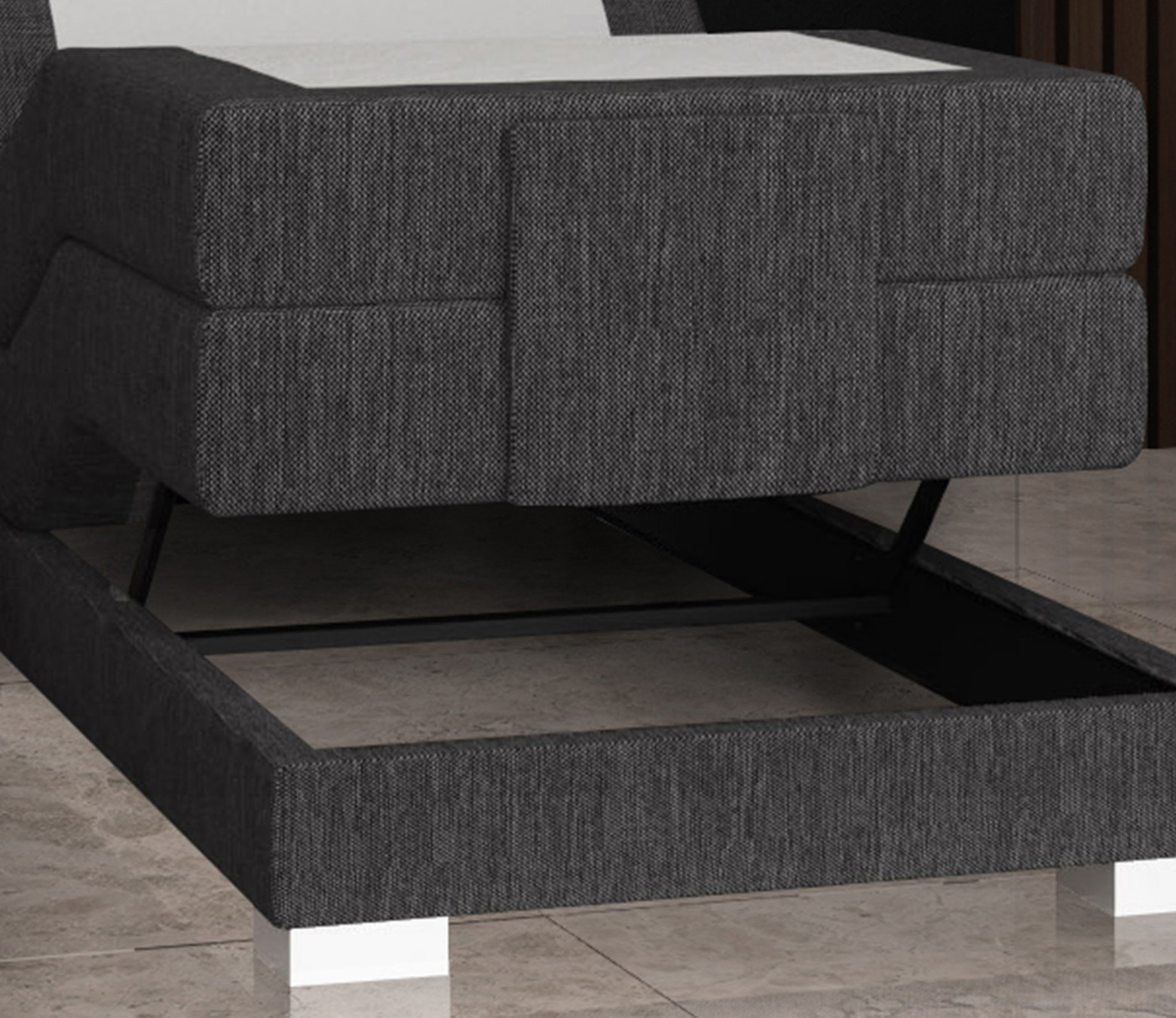 Elektrische Boxspring Stockholm 1-persoons