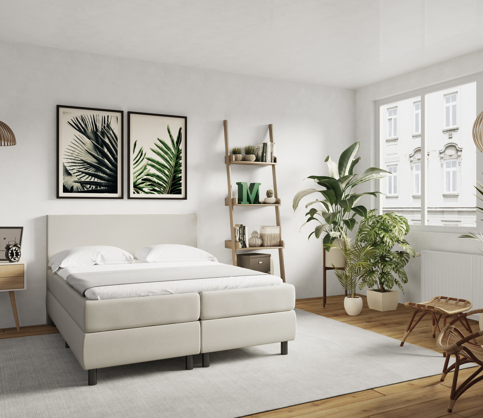 Boxspring Lyon Leatherlook