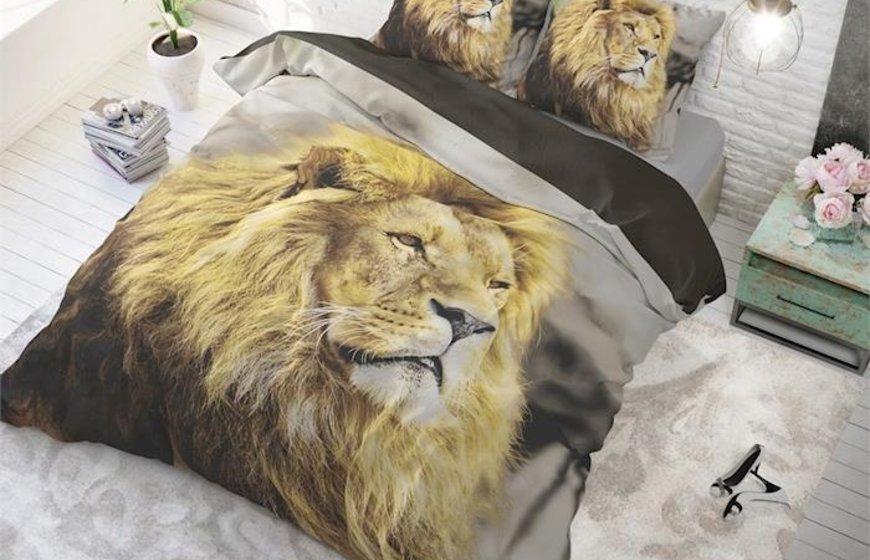 Dekbedovertrek LION MIND TAUPE