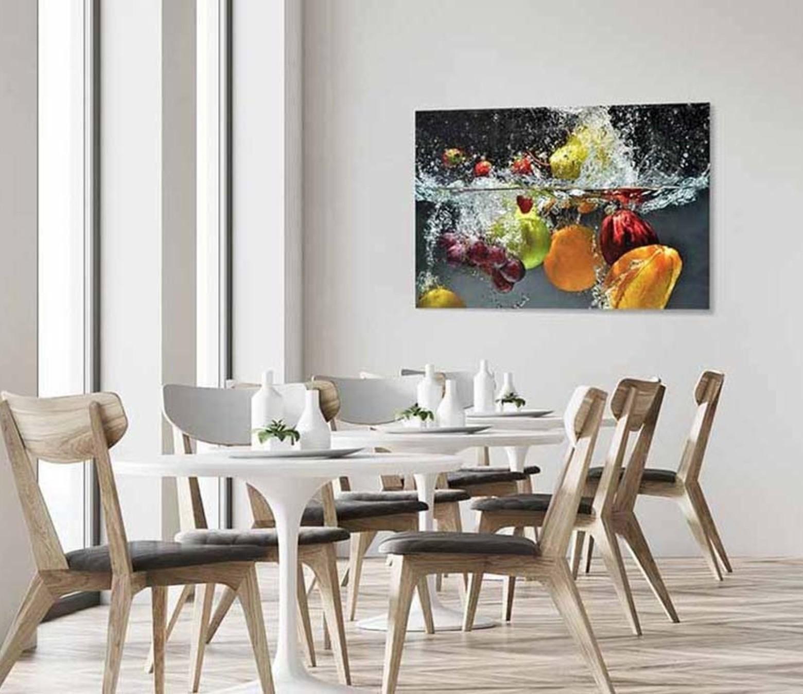 Splashed fruit foto-art plexiglas