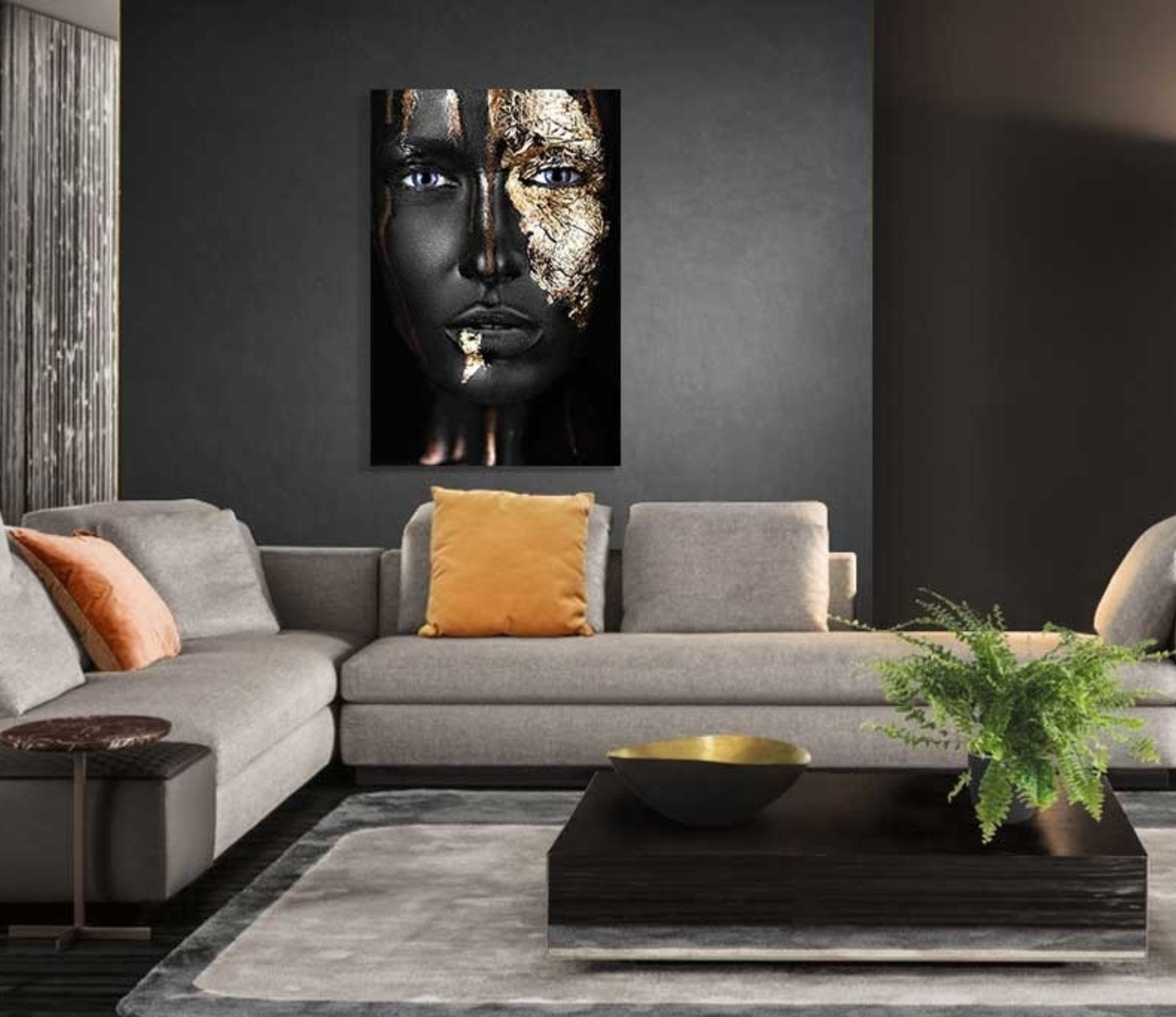 Black and Gold foto-art plexiglas