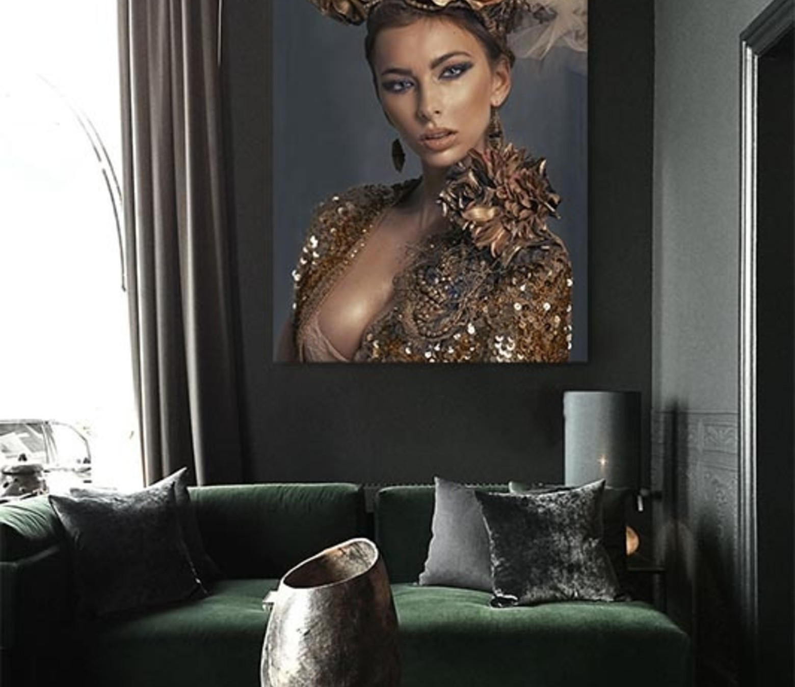 Luxury Lady foto-art plexiglas