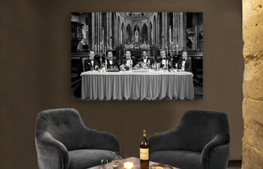 Famous Supper foto-art op plexiglas