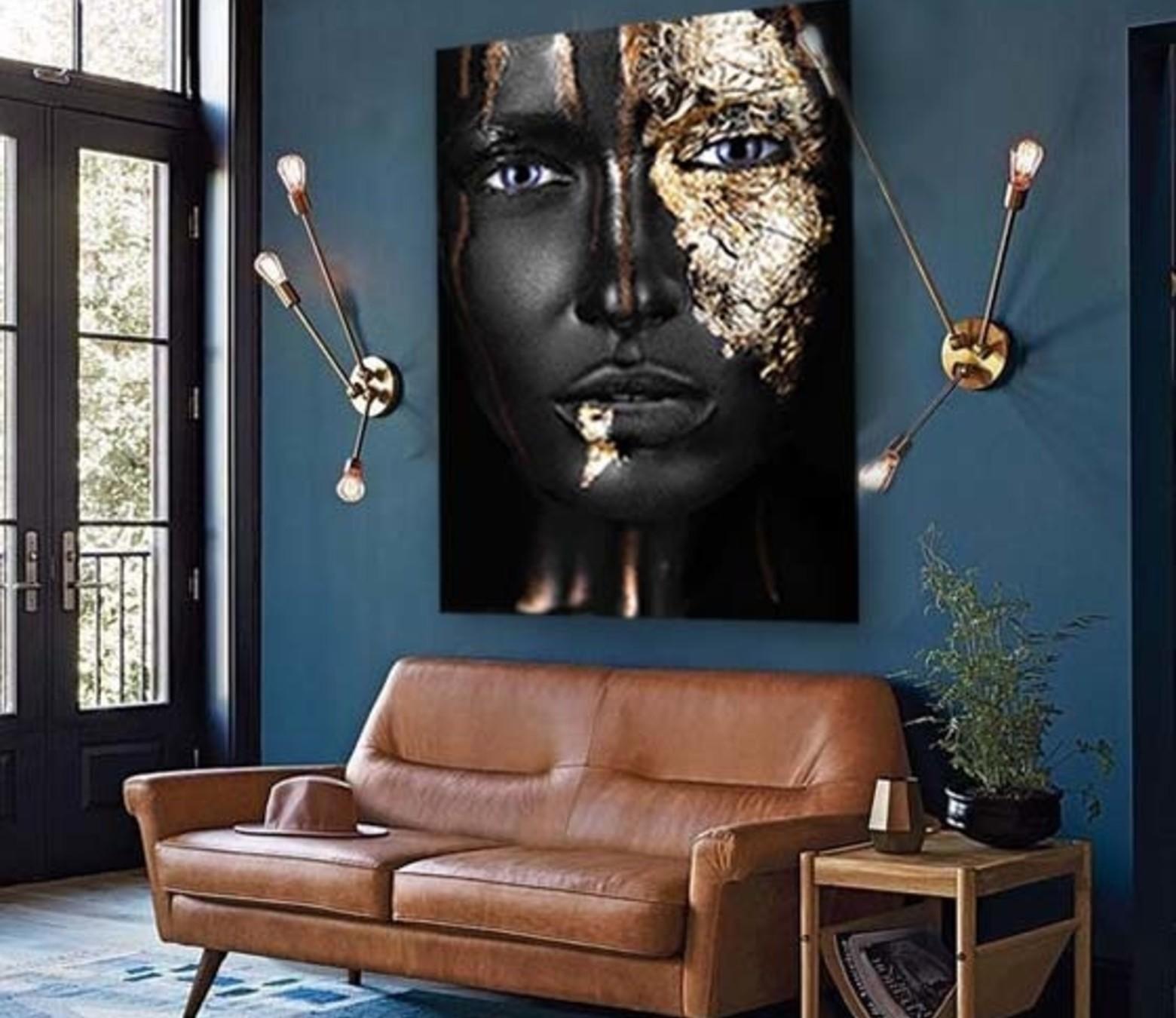 Black and Gold foto-art dibond