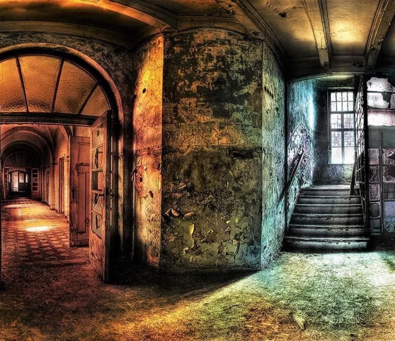 Empty Building foto-art dibond