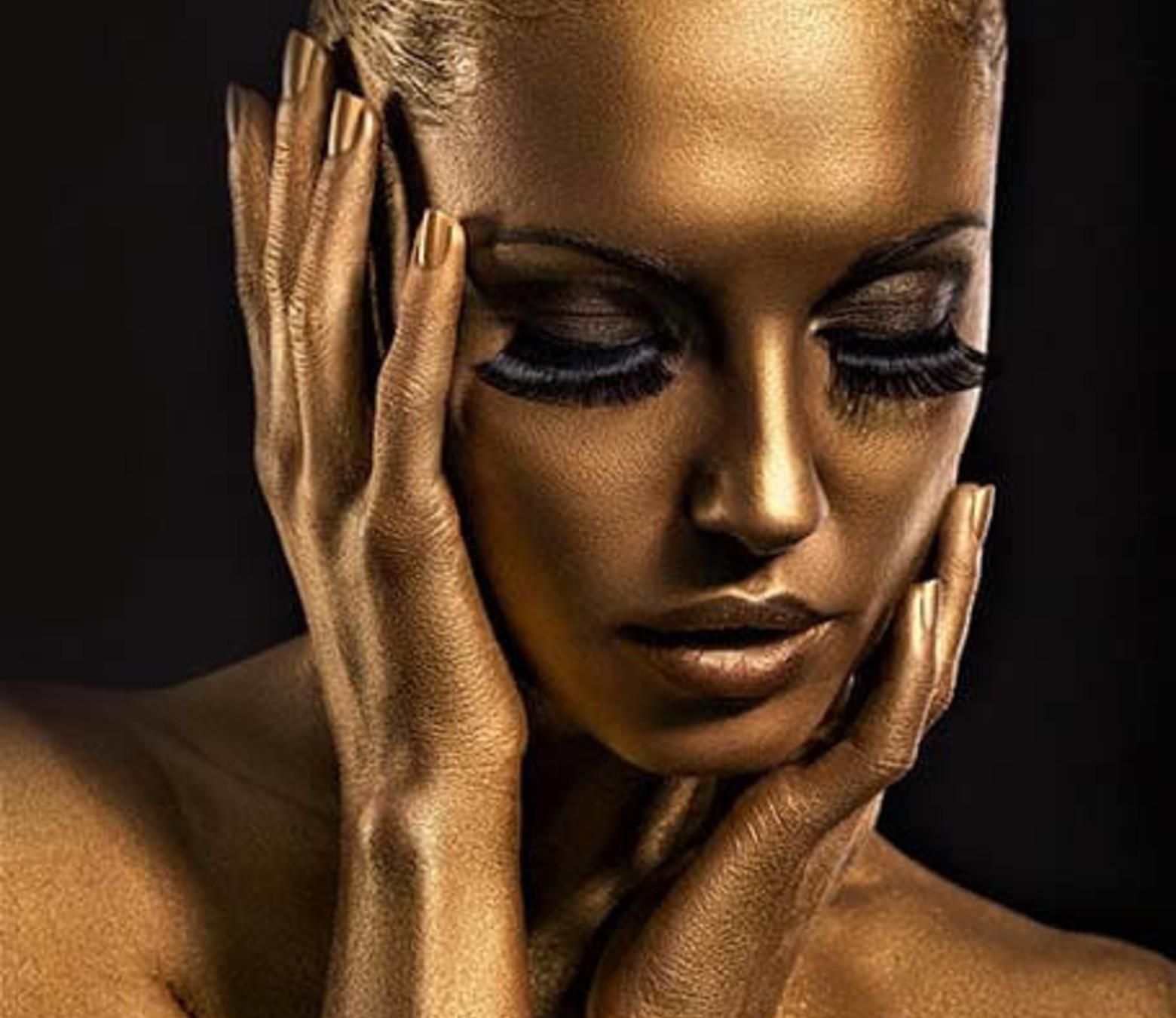 Golden Thoughts foto-art op dibond