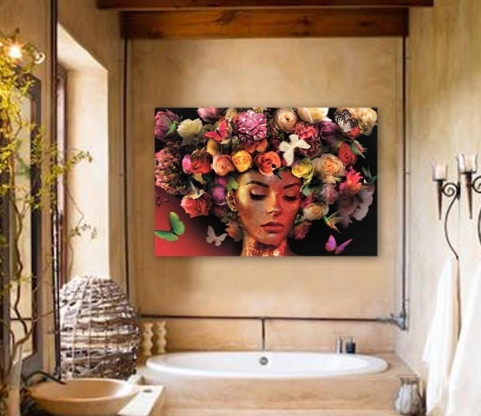 Flower Creation foto-art op dibond