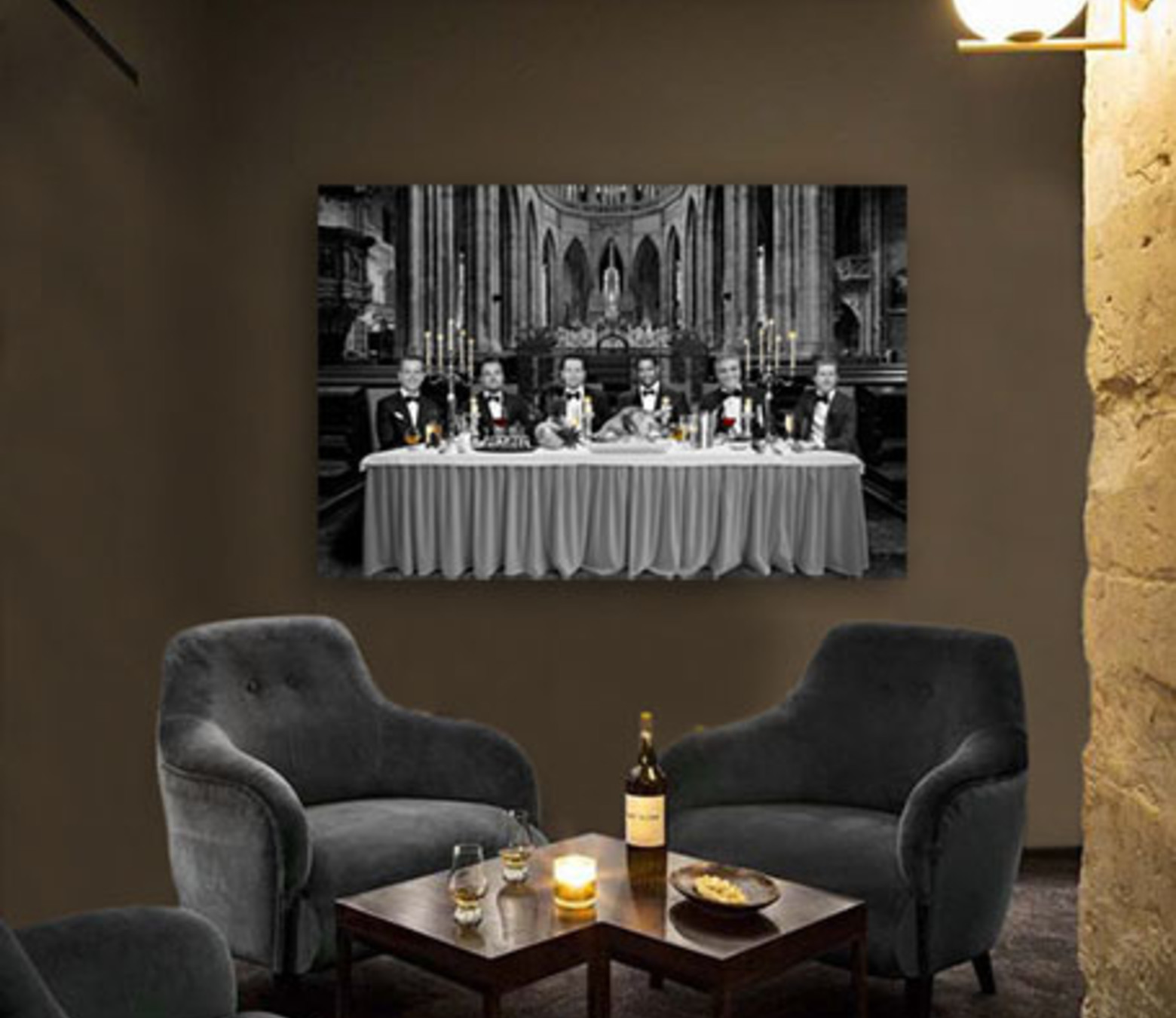 Famous Supper foto-art op dibond