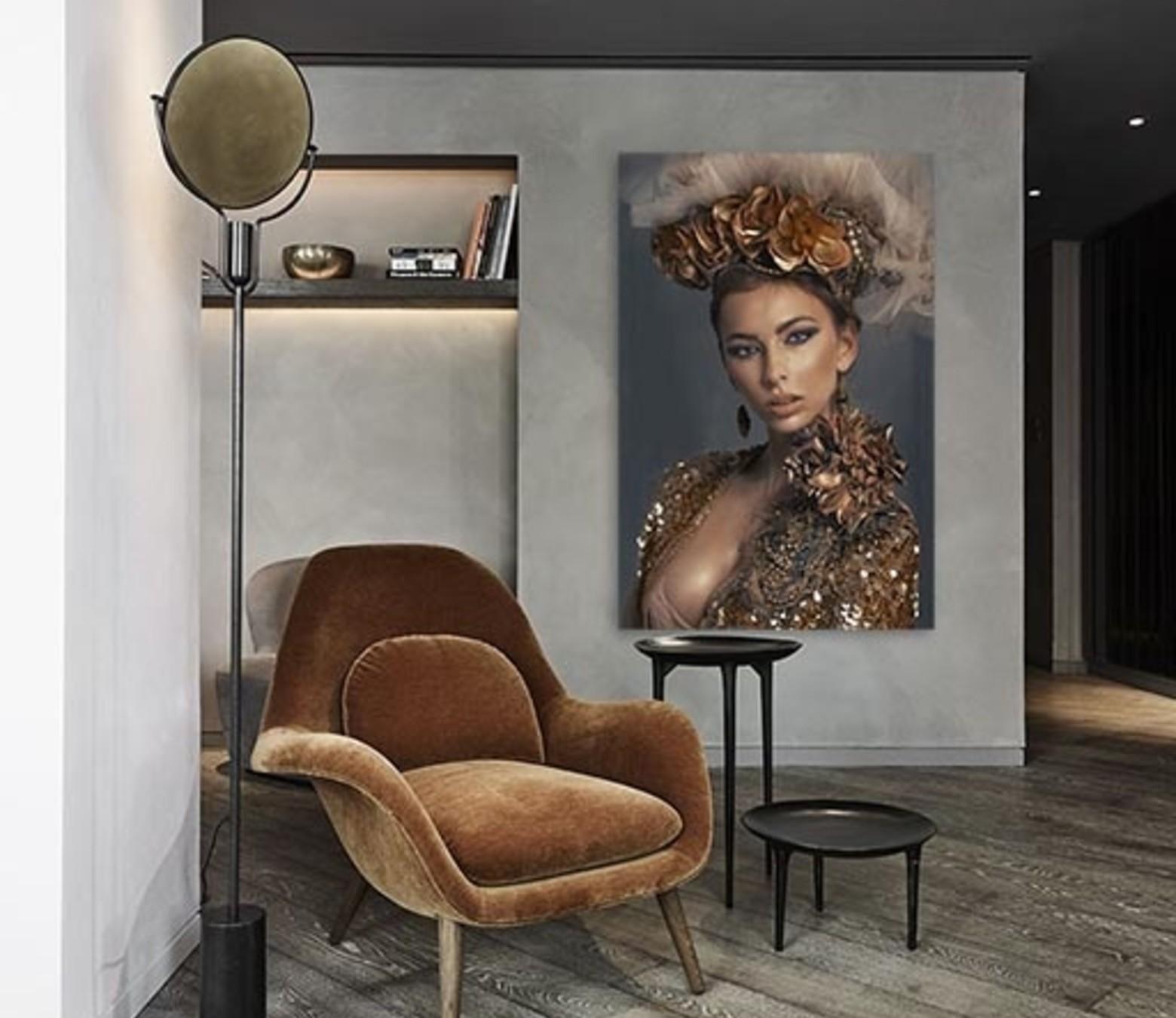 Luxury Lady foto-art dibond