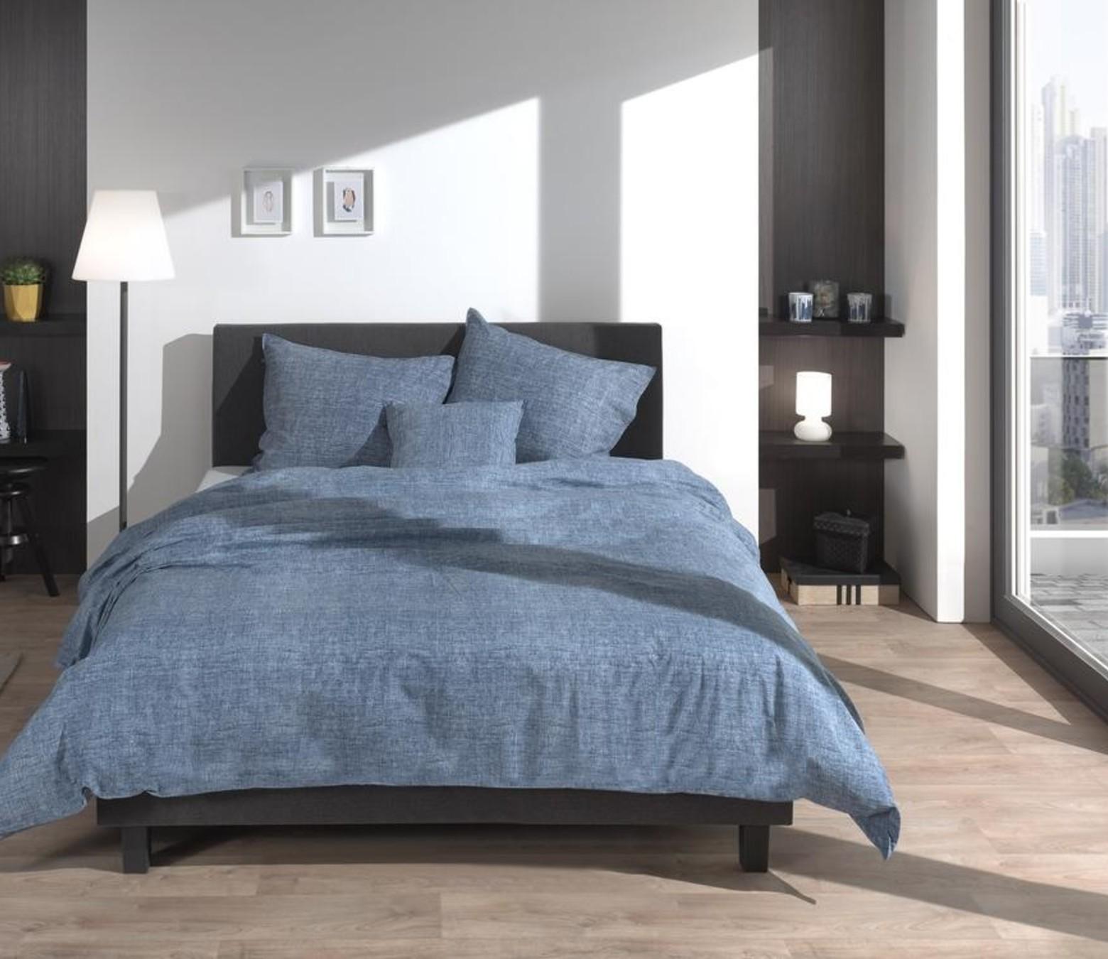 Dekbedovertrek Lino Urban Blue - 100% Katoen