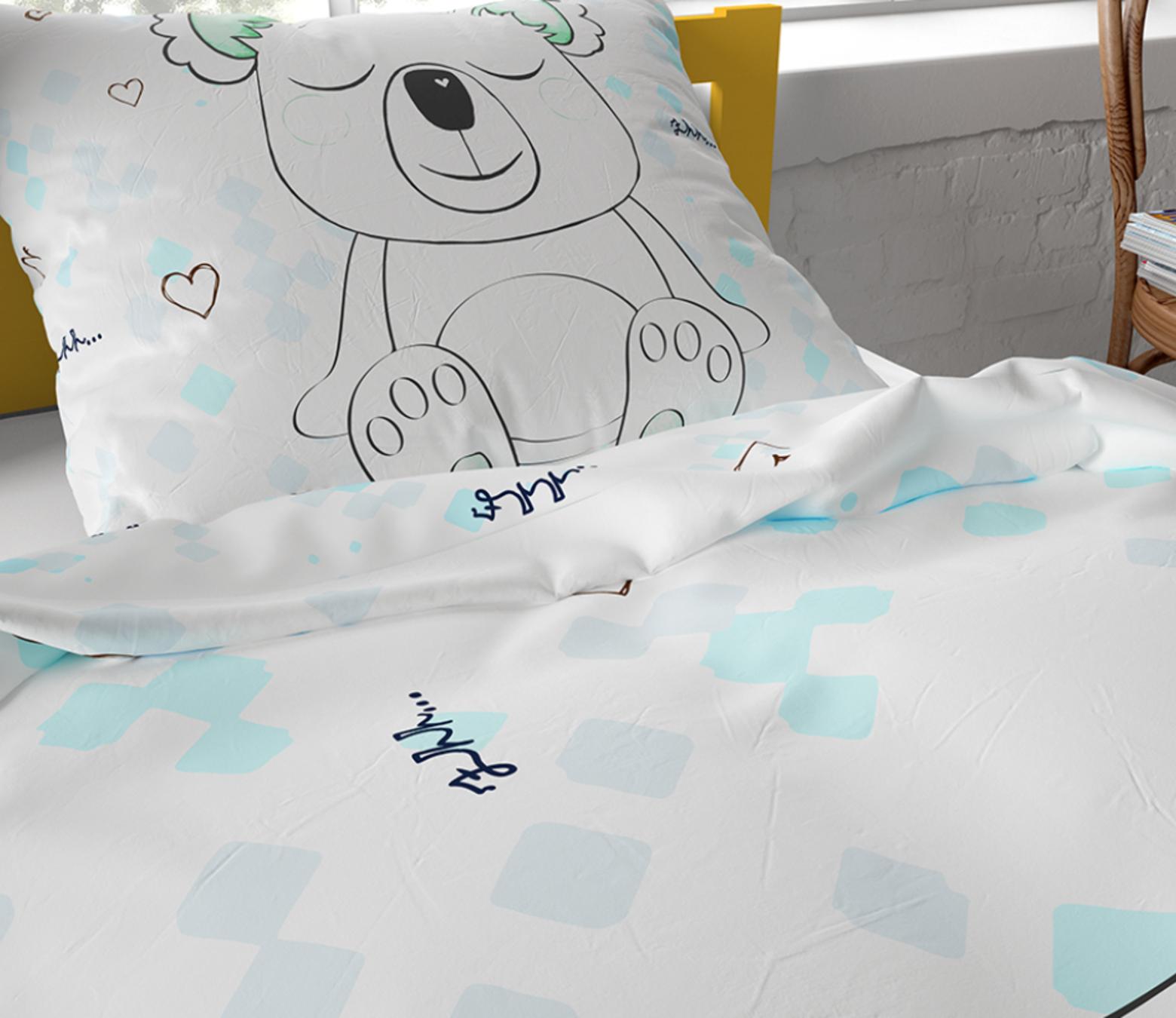 Dekbedovertrek SLEEPY KOALA WHITE
