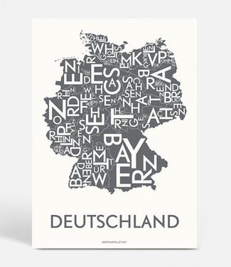 Kortkartellet Kortkartellet A5 Mini Poster Deutschland Antraciet
