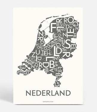Kortkartellet Kortkartellet A5 Mini Illustration Nederland Charcoal