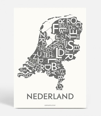 Kortkartellet Kortkartellet A5 Mini Poster Nederland Antraciet