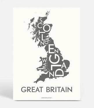 Kortkartellet Kortkartellet A5 Mini Illustration Great Britain Charcoal