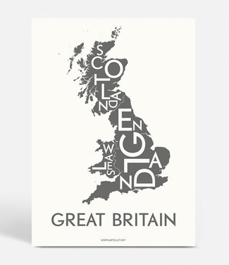 Kortkartellet Kortkartellet A5 Mini Poster Great Britain Antraciet