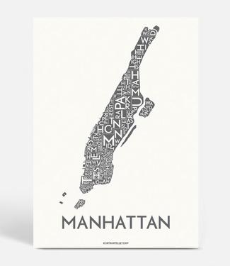 Kortkartellet Kortkartellet A5 Mini Poster  Manhattan Antraciet