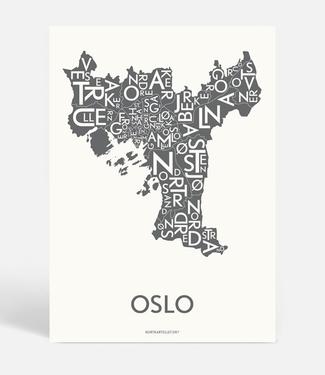 Kortkartellet Kortkartellet A5 Mini Poster Oslo Antraciet
