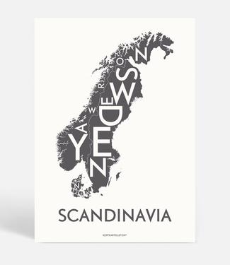 Kortkartellet Kortkartellet A5 Mini Poster Scandinavia Antraciet