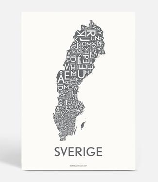 Kortkartellet Kortkartellet A5 Mini Poster Sverige Antraciet