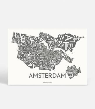 Kortkartellet Kortkartellet Poster Amsterdam  Antraciet  50x70