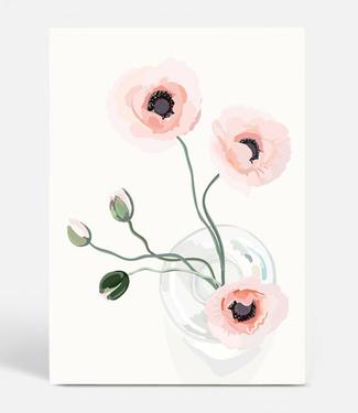 Kortkartellet Kortkartellet Botanica Poster Klaproos A3