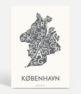 Kortkartellet Kortkartellet Poster Kopenhagen Antraciet  50x70