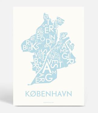 Kortkartellet Kortkartellet Poster Kopenhagen Dusty Blue 50x70