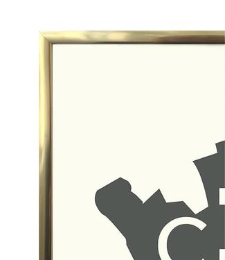 Kortkartellet Kortkartellet Frame Brass 40x55